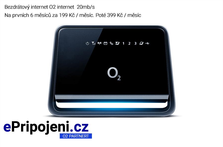 O2 internet na chatu